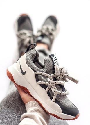 Шикарные женские кроссовки nike city loop grey