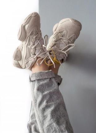 Шикарные женские кроссовки adidas yeezy boost 500