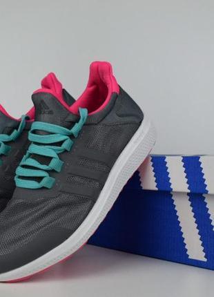 Шикарные женские кроссовки adidas climacool bounce серые