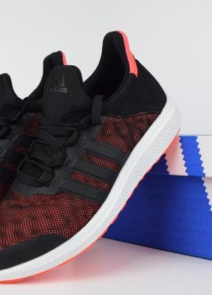 Шикарные женские кроссовки adidas climacool bounce черные с бо...