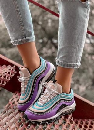 Шикарные женские кроссовки nike air max 97 blue violet