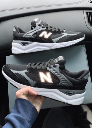 Шикарные мужские кроссовки new balance x90 black grey