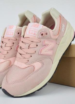Шикарные женские кроссовки new balance 999 розовые