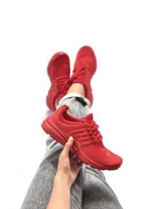 Шикарные женские кроссовки nike air presto red