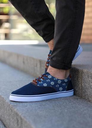 Шикарные мужские кеды на лето летние синие джинсовые