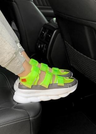 Шикарные женские сандали салатовые