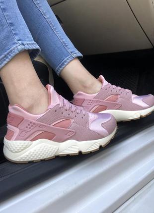 Шикарные женские кроссовки nike air huarache pink