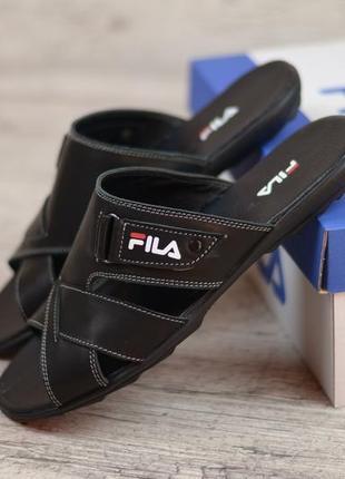 Мужские сандали шлепки fila чёрные