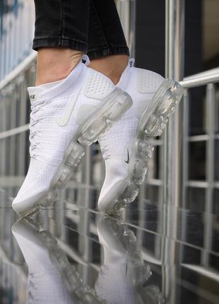 Шикарные женские кроссовки nike vapormax white белые