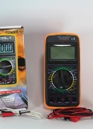 Мультиметр (тестер) DT9208A щупы,терамопара