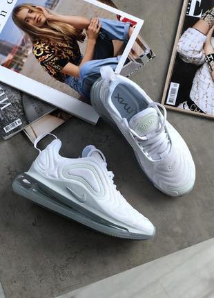 Шикарные женские кроссовки nike wmns air max 720 white metalli...