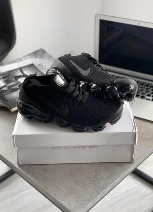 Мужские кроссовки nike air vapormax flyknit 3 black anthracite...