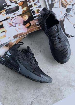Шикарные женские кроссовки nike air max 270 triple black