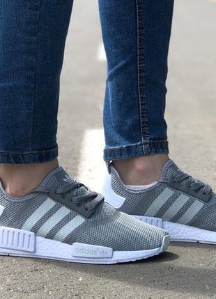 Шикарные женские кроссовки adidas nmd runner grey