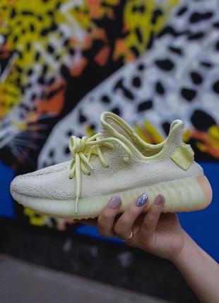 Шикарные женские кроссовки adidas yeezy boost 350 yellow желтые
