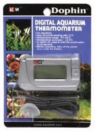 KW Dophin Digital Aquarium Thermometer термометр электронный ц...