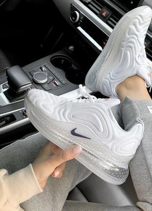 Шикарные женские кроссовки nike air max 720 space white