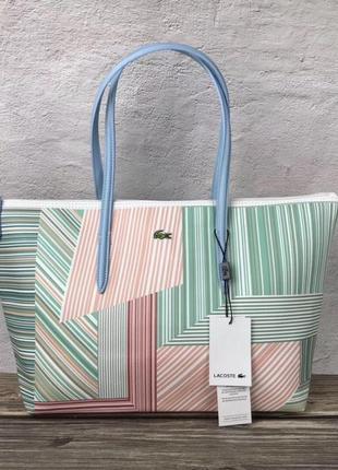 Женская сумка lacoste зебра