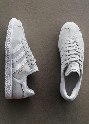 Шикарные женские кеды кроссовки adidas gazelle grey серые