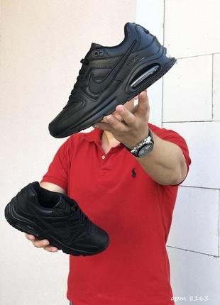 Шикарные мужские кроссовки nike air max 90 black чёрные