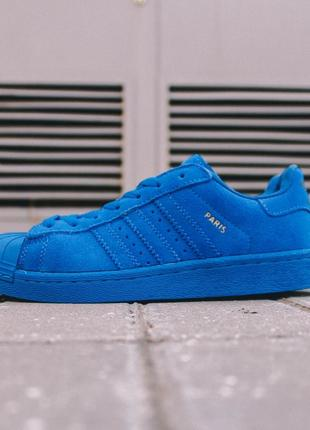 Шикарные кеды adidas superstar adidas superstar blue синие