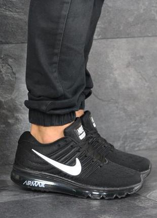 Шикарные мужские кроссовки nike air max чёрные