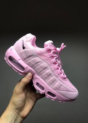 Шикарные женские кроссовки nike air max 95 розовые