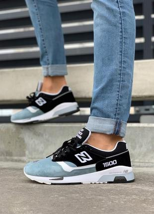 Шикарные мужские кроссовки new balance 1500 blue black