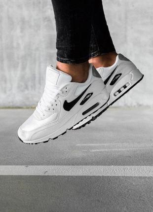 Шикарные мужские кроссовки nike air max 90 белые