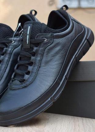 Мужские туфли кроссовки ecco danish design intrinsic черные