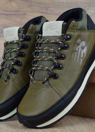 Шикарные мужские кроссовки ботинки new balance 754 зеленые