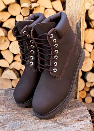 Мужские осенние / зимние ботинки timberland boots коричневые
