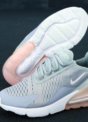 Шикарные женские кроссовки  nike air max 270 серые
