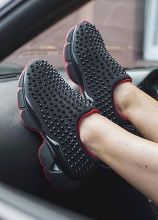 Шикарные женские кроссовки christian louboutin