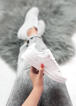 Шикарные женские кроссовки adidas stan smith белые