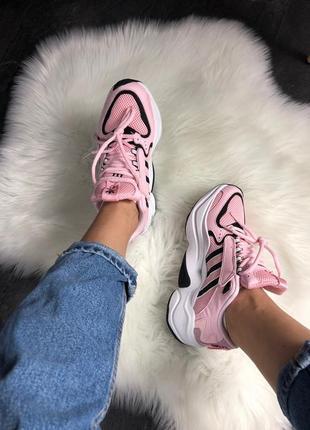 Кроссовки adidas x naked magmur runner pink white black