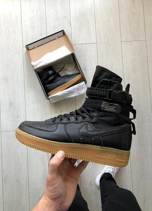 Шикарные кроссовки nike special field air force 1 чёрные