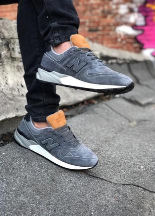 Шикарные мужские кроссовки new balance 999 grey серые