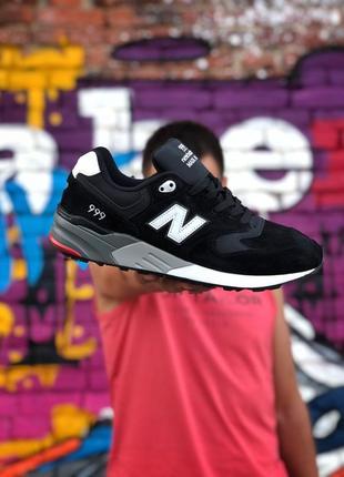 Шикарные мужские кроссовки new balance 999 grey чёрные