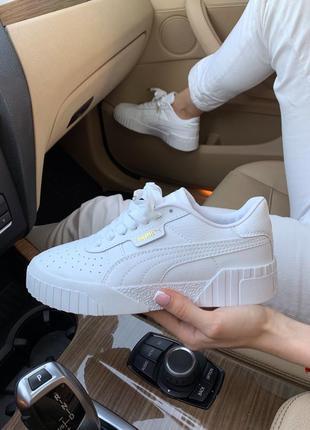Шикарные женские кроссовки puma basket white белые