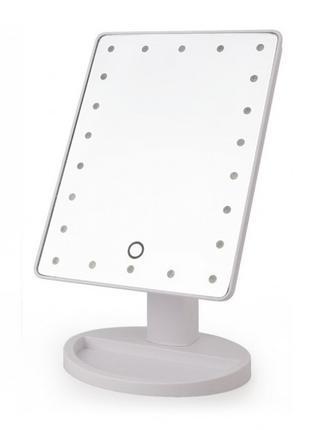 Настольное косметическое зеркало с подсветкой для макияжа Larg...