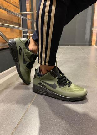 Шикарные мужские кроссовки nike air max ultra 90 khaki хаки