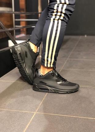 Шикарные мужские кроссовки nike air max ultra 90 black чёрные