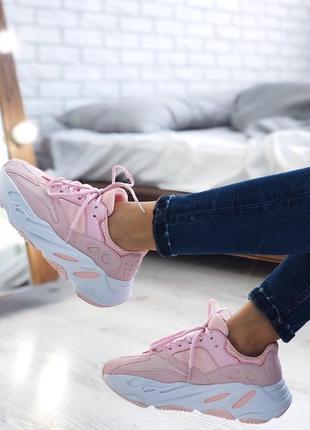 Шикарные женские кроссовки adidas yeezy boost 700 utility pink...