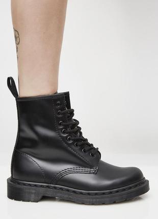 Шикарные женские ботинки dr. martens mono black чёрные 😃 (весн...