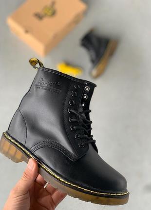 Шикарные женские ботинки dr. martens 1460 black чёрные 😃 (весн...