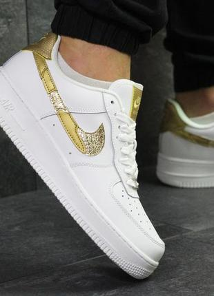 Шикарные мужские кроссовки nike air force 1 low white белые 😃 ...
