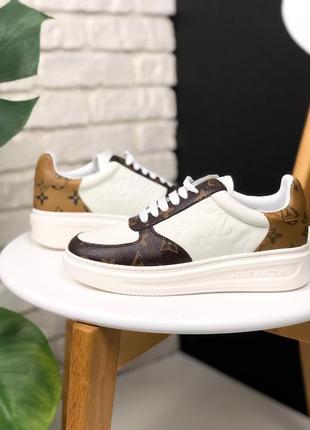 Шикарные женские кроссовки louis vuitton белые с коричневым 😃 ...