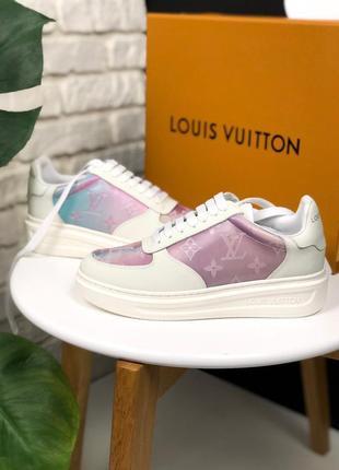 Шикарные женские кроссовки louis vuitton sneakers pink white 😃...