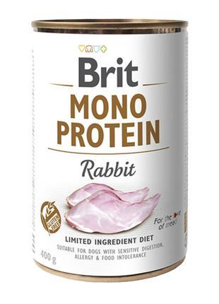 Brit Mono Protein rabbit консервированный корм для собак с кро...